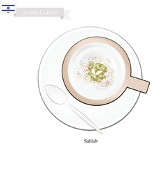 Sahlab or Israeli Hot Milk with Orchid Root Flour vector image