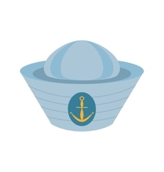 sailor cap nautical anchor design vector image