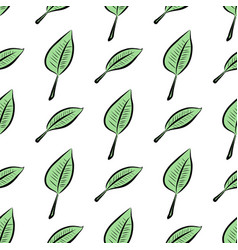 Seamless of leaves decoration texture pattern vector