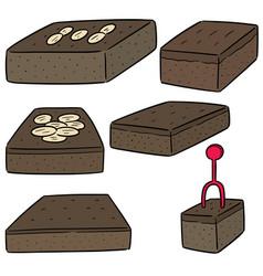 Set of brownies vector