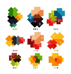 Set of cross geometric shapes - symbols vector image