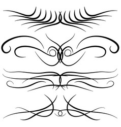 set of vintage decorative curls swirls vector image