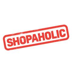shopaholic stamp on white vector image