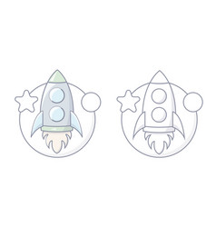 simple spaceship icon vector image