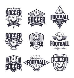 Soccer classic emblems set vector