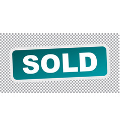 Sold stamp flat icon vector