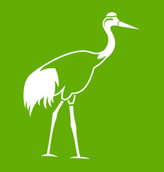 stork icon green vector image