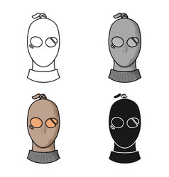 Thief icon in cartoon style isolated on white vector