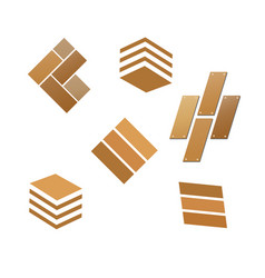 Tile wooden flooring logo vector