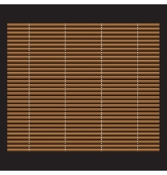 Traditional makisu woven mat for sushi rolls vector