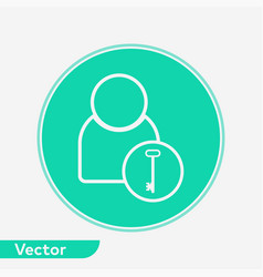 user icon sign symbol vector image