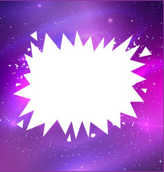 White banner on outer space background vector