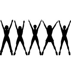 aerobics vector image vector image