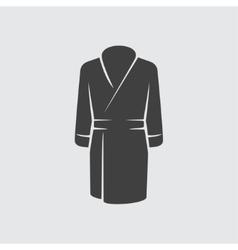 Bathrobe icon vector image vector image