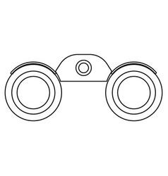 binoculars the black color icon vector image vector image