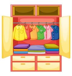 Empty wardrobe vector image vector image