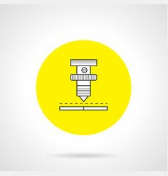 high precision welding round icon vector image