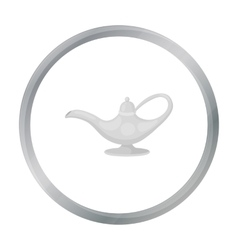 Oil lamp icon in cartoon style isolated on white vector image vector image