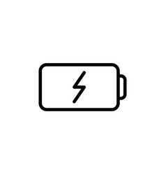 thin line battery icon vector image vector image