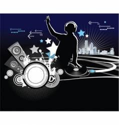 dj music concept vector image