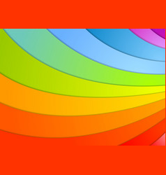 Rainbow waves background vector image