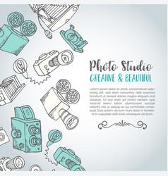 sketchy hand drawn photo card hand drawn vector image