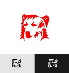 Bear head logo vector image