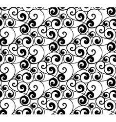 Black seamless pattern silhouette vector image vector image