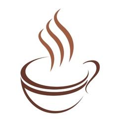 Doodle sketch cup of steaming hot beverage vector image vector image