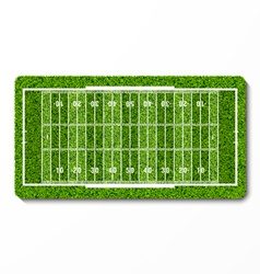 green grass american football field vector image vector image