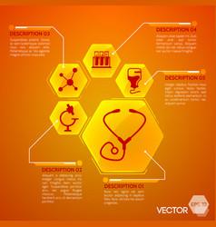 medicine and health orange poster vector image vector image
