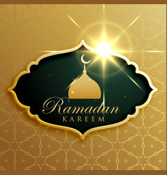 ramadan kareem festival greeting design in vector image vector image