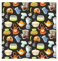 Seamless pattern with kitchen tools vector image