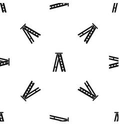 stepladder pattern seamless black vector image