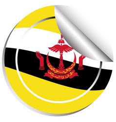 sticker design for brunei flag vector image vector image