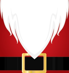 Christmas Santa Claus white Beard Red shirt and vector image vector image
