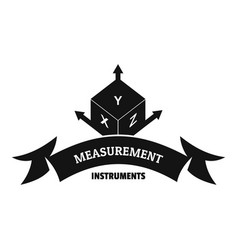 measurement cube logo simple black style vector image vector image