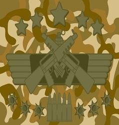 Military Logo Rifleman vector image