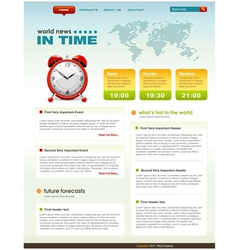 web page infographic template vector image vector image