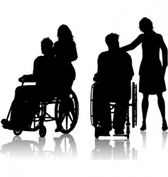 wheelchair silhouette vector image vector image