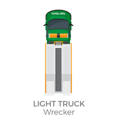 wrecker light truck top view flat icon vector image vector image