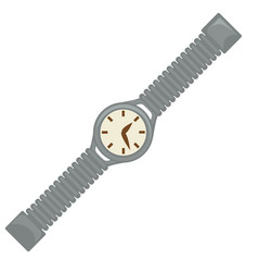 40s style watch or wrist clock dial and belt vector