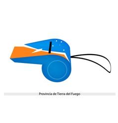 A Whistle of Provincia de Tierra del Fuego vector