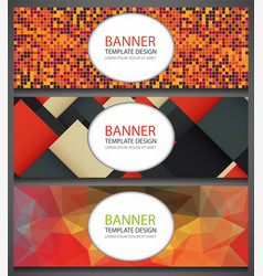 abstract banners set with different patterns vector image