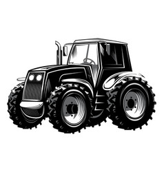 agricultural tractor for vector image