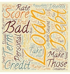 Bad Debt Personal Loans Put Your Life Back On vector image