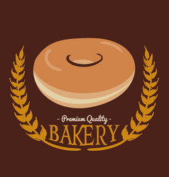 Bakery pq donut brown background vector