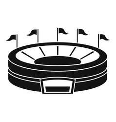 baseball arena icon simple style vector image