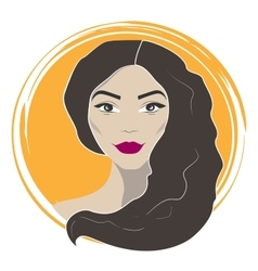 Beautiful fashion woman vector image