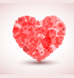 Big heart made from smaller hearts vector